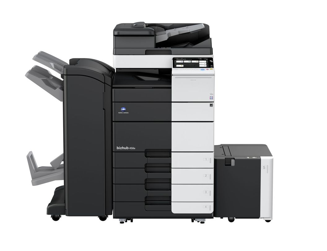 Konica Minolta Bizhub 458e printer available ot lease or purchase.