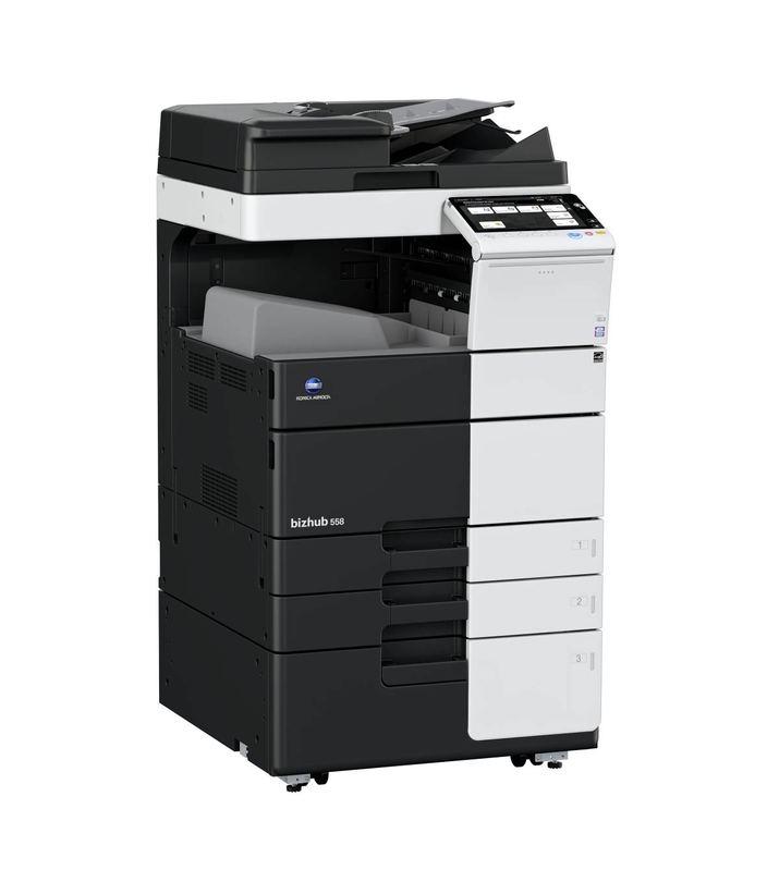 Konica Minolta Bizhub 558 printer available ot lease or purchase.