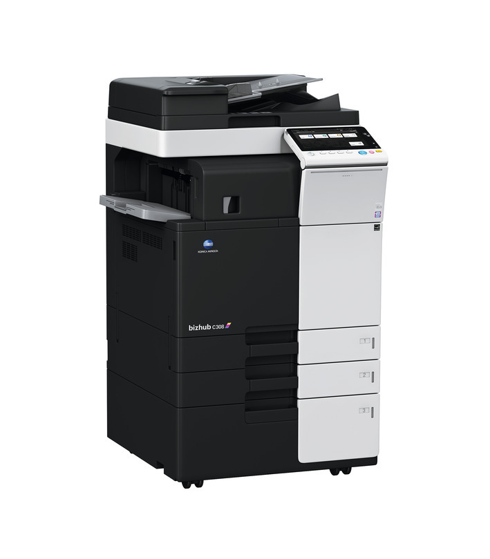 Konica Minolta Bizhub C308 printer available ot lease or purchase.