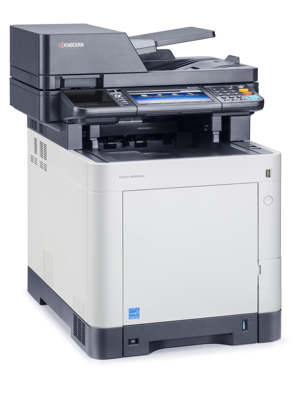 Kyocera ECOSYS M6035cidn printer available ot lease or purchase.